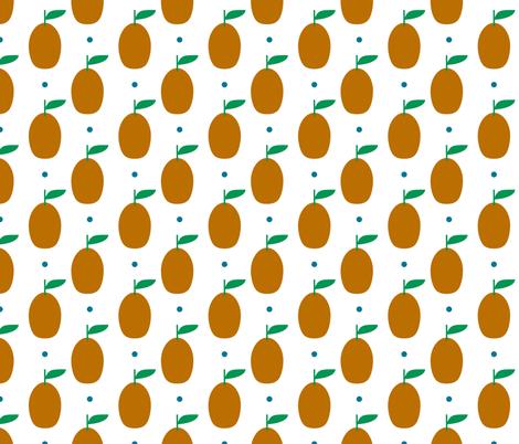 kumquat spot fabric by amybethunephotography on Spoonflower - custom fabric