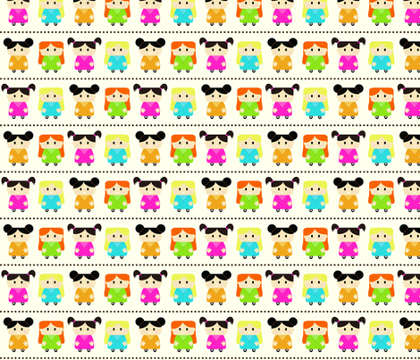 Girl Fabric - very saturated fabric by jesseesuem on Spoonflower - custom fabric