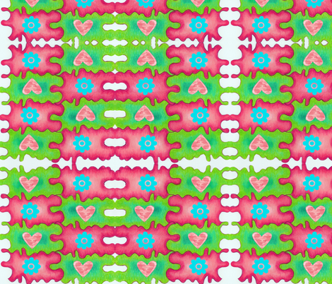 Radio Picnic fabric by poshprimitive on Spoonflower - custom fabric