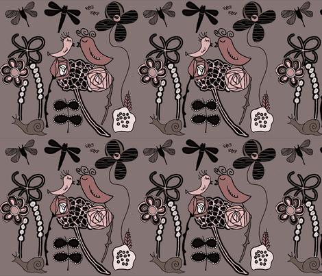Garden of Love fabric by sbd on Spoonflower - custom fabric