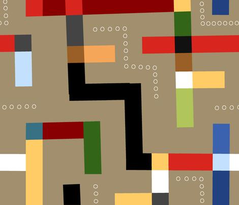 Kuba Kloth (Bark) fabric by artcafe on Spoonflower - custom fabric