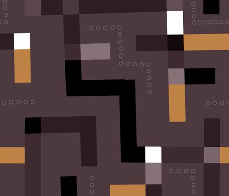 Kuba Cloth (Chocolate) fabric by artcafe on Spoonflower - custom fabric