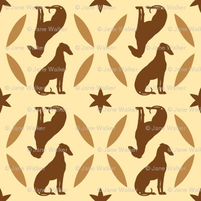 Golden Brown Greyhounds GG4   ©2010 by Jane Walker  ©2010 by Jane Walker