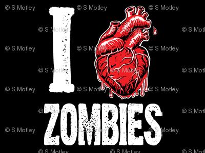 I love zombies black