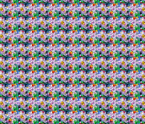 Coneflowers fabric by frances_hollidayalford on Spoonflower - custom fabric