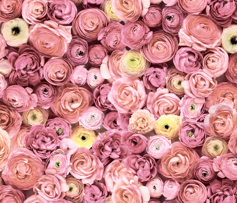Ranunculus Pattern fabric by martha_stewart_weddings on Spoonflower - custom fabric