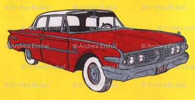 1960 Edsel Ranger 2 door sedan In red