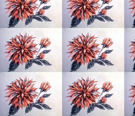 card__orange_flower fabric by yarrow4 on Spoonflower - custom fabric