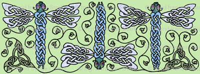 celtic dragonfly trio