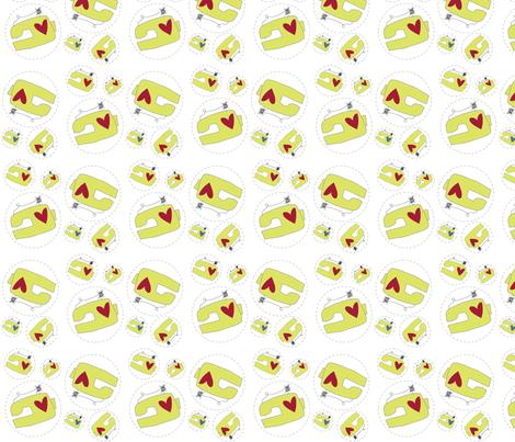 Machine Shuffle fabric by moxywares on Spoonflower - custom fabric
