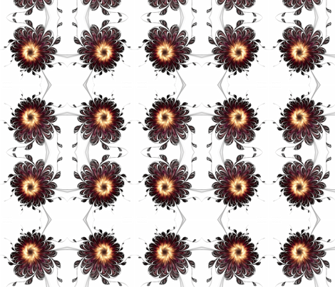The Emperor's Peonies fabric by winter on Spoonflower - custom fabric