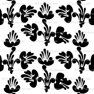 black and white art nouveau design no. 01