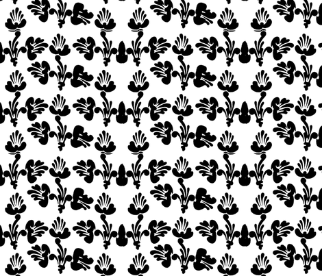 black and white art nouveau design no. 01 fabric by eva_krasilni_razbor on Spoonflower - custom fabric