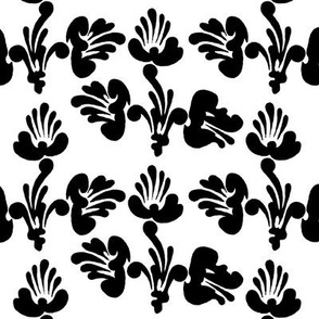 black and white art nouveau design no. 01