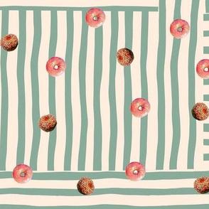 Doughnuts Lover's Stripe - mint -
