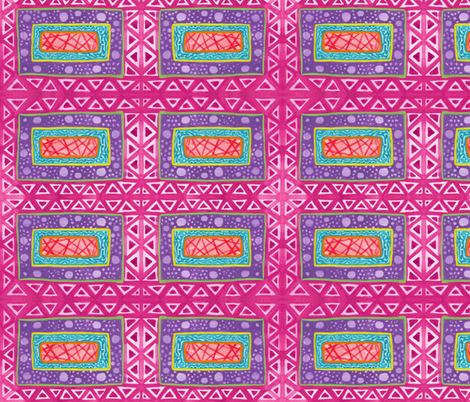 View from the Starship fabric by not-enough-time on Spoonflower - custom fabric