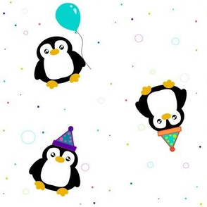 Party Penguins!  - © PinkSodaPop 4ComputerHeaven.com