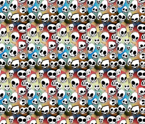rainbow_skulls fabric by garmonsway_designs on Spoonflower - custom fabric