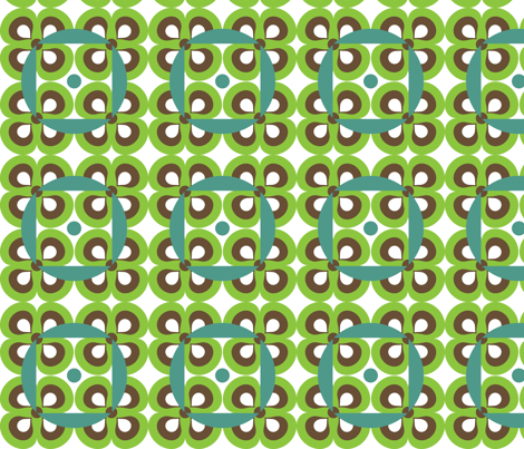 Retro Flowers fabric by printablecrush on Spoonflower - custom fabric