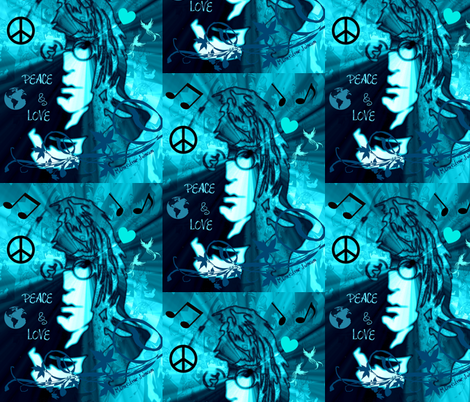 WORLD PEACE & LOVE fabric by paragonstudios on Spoonflower - custom fabric