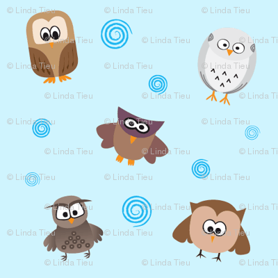 Owls Pattern - Light Colors