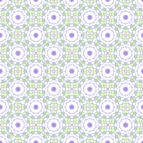 Jacaranda Buds fabric by inscribed_here on Spoonflower - custom fabric