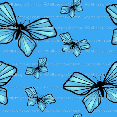 One Googillion Fluttering Blues! - © PinkSodaPop 4ComputerHeaven.com