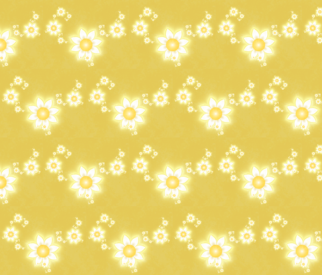 Daisies Are Little Suns fabric by winter on Spoonflower - custom fabric