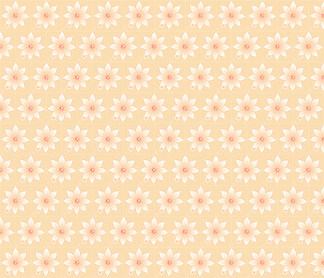 peachy keen fabric by winter on Spoonflower - custom fabric
