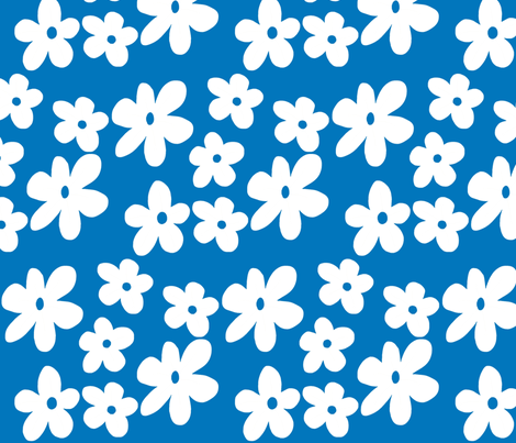 Blue Flowers fabric by toni_elaine on Spoonflower - custom fabric