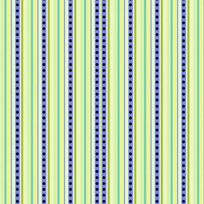 Sweet Garden Flowers! - Coordinating Micro Stripes & Dots! -  © PinkSodaPop 4ComputerHeaven.com