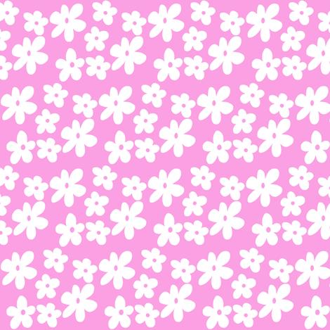 Bright Pink Daisy Flowers fabric by toni_elaine on Spoonflower - custom fabric