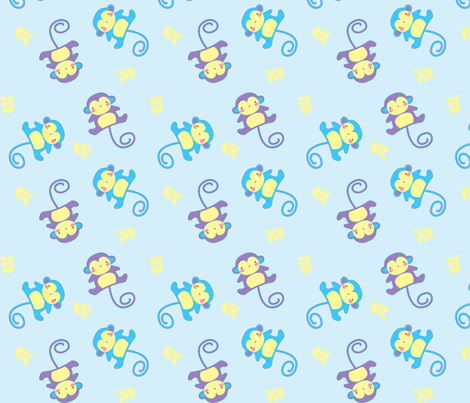 Lil' Monkey fabric by malien00 on Spoonflower - custom fabric