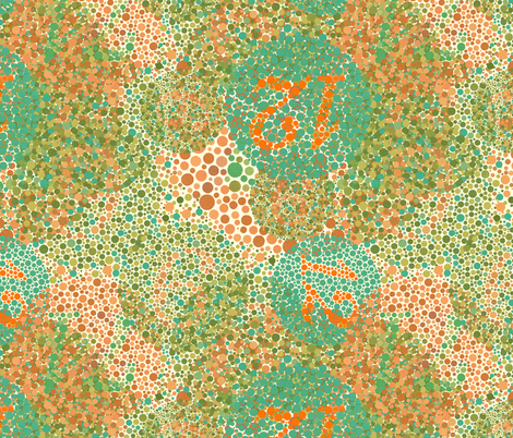 Ishihara plates fabric by joybucket on Spoonflower - custom fabric