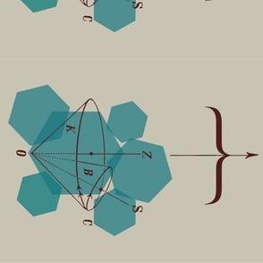 blue-green polygonal pattern