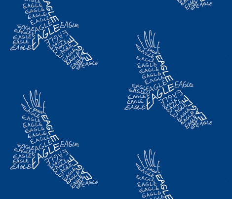 Eagle Calligram fabric by blue_jacaranda on Spoonflower - custom fabric