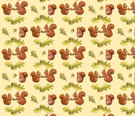 squirrels fabric by sandras on Spoonflower - custom fabric