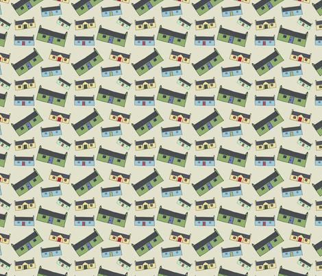 Croft_House_New_Design_Pattern_small fabric by phatsheepfabrics on Spoonflower - custom fabric