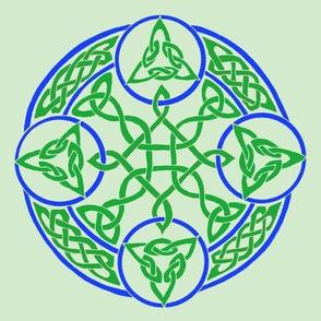 mandala16 green blue
