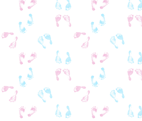 babyfootprints fabric by shirlene on Spoonflower - custom fabric