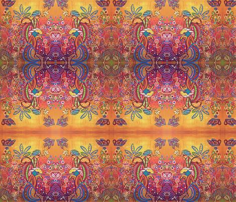 Enchanted Garden : 4 Birds fabric by kristenstein on Spoonflower - custom fabric