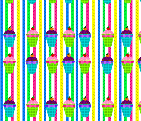 colourful cupcakes fabric by lyndsey2360 on Spoonflower - custom fabric