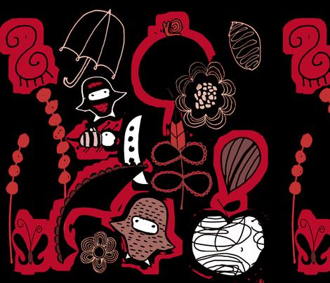 A Crimson Dream fabric by sbd on Spoonflower - custom fabric