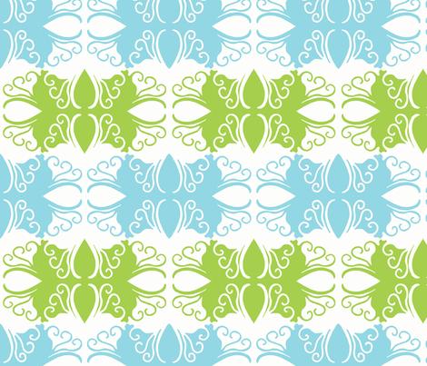 Cutwork In Green & Blue fabric by cksstudio80 on Spoonflower - custom fabric