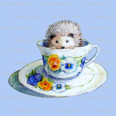Hedgehog Tea In Blue