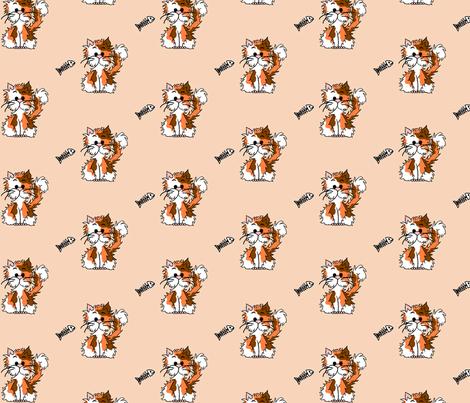 Kitty Calico fabric by mandollyn on Spoonflower - custom fabric