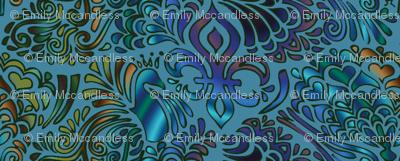 Peacock tessellation