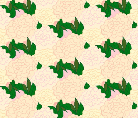 bunches_of_flowers_tesselation_multi_colored_resized fabric by victorialasher on Spoonflower - custom fabric
