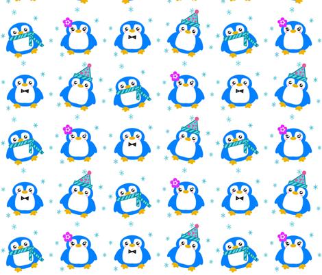 Winter Baby Penguins! - © PinkSodaPop 4ComputerHeaven.com fabric by pinksodapop on Spoonflower - custom fabric