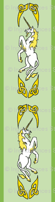 unicorn ribbon 1 green gold